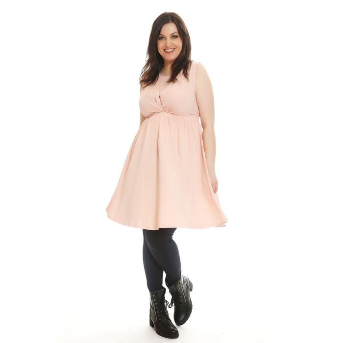 Ρούχα για παχουλές: Φόρεμα Αμάνικο Fit and Flare