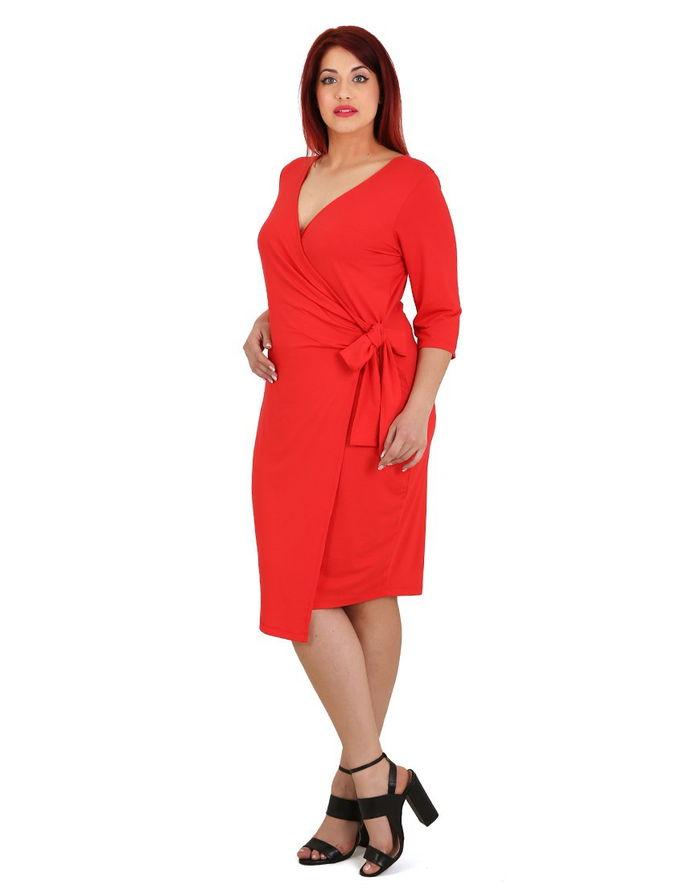 Κρουαζέ ζέρσεϋ εφαρμοστό φόρεμα