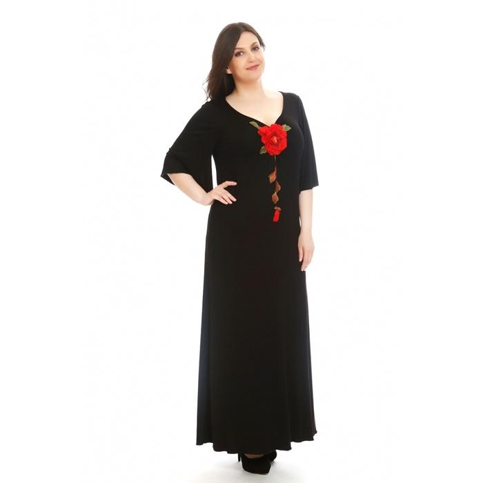 Φόρεμα με κεντημένο λουλούδι